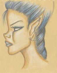 Blue elf by Myryelfe