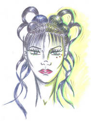 work hairstyle by Myryelfe