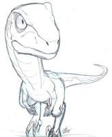 Jurassic Chibi #1: Velociraptor by ConstantScribbles