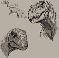 Dinosaaaaurs by ConstantScribbles