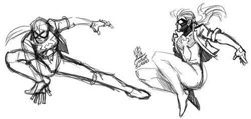 Jessica Drew Warmup Sketches by ConstantScribbles