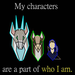 My characters are a part of who I am by HerothTheDragon
