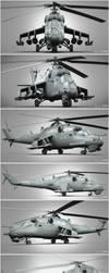 Mi-35P Clay render compilation by Siregar3D