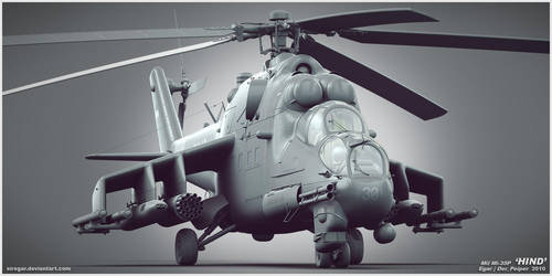 Mi-35P by Siregar3D
