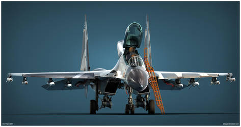 Su-30MK2 TNI AU Studio v3 by Siregar3D