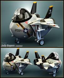 F-14 Jolly Rogers Junior by Siregar3D
