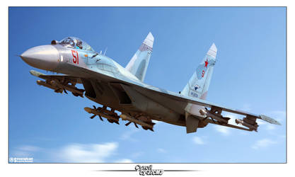 Su-27SM3 '51' by Siregar3D