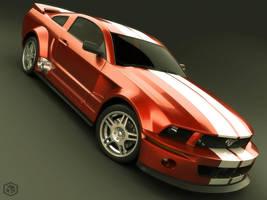 Mustang 2005 Red Version by Siregar3D