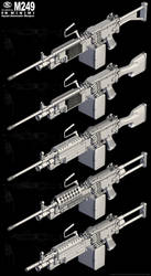FN Minimi and M249 Ink tooned by Siregar3D