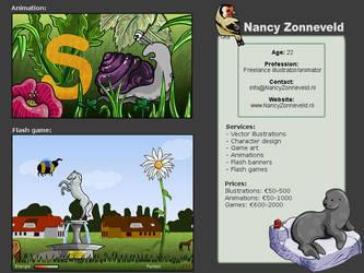 Freelance profile by nancy-kelpie