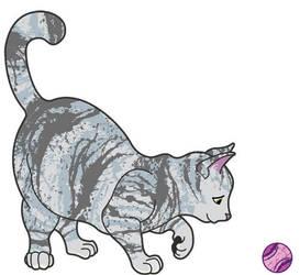 Playing cat by nancy-kelpie