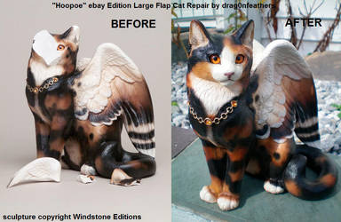 Windstone Editions ebay Hoopoe Lg Flap Cat Repair by drag0nfeathers