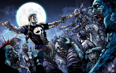 Frank Castle Vs The Walking Dead by marianovella