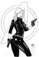 black widow. by Leomatos2014