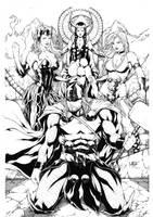 Thor, Lady Loki, Enchantress and Lorelei by Leomatos2014
