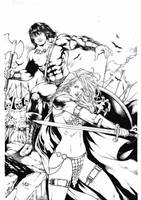 Conan and Red Sonja by Leomatos2014