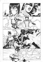 Red Ninja Momiji ( independent comicbook work) by Leomatos2014