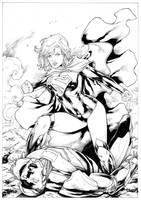 Supergirl and Metallo by Leomatos2014