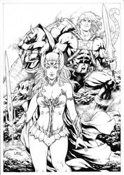 She Ra and He Man by Leomatos2014