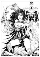 Wonder Woman and Superman by Leomatos2014