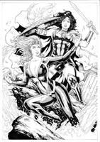 Mera vs Wonder Woman by Leomatos2014