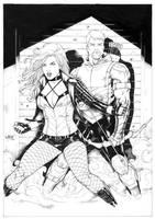 Black Canary and Green Arrow by Leomatos2014