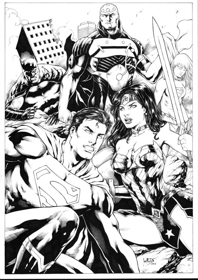 Brainiac vs Superman Wonder Woman Batman Supergirl by Leomatos2014