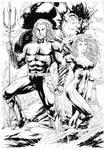 Aquaman and Mera by Leomatos2014