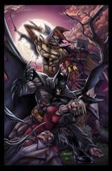 Batman Vs Scarecrow by DAVID-OCAMPO