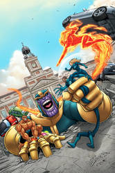 FANTASTIC FOUR #1 COVER EXCLUSIVE FOR AKIRA COMICS by DAVID-OCAMPO