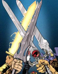 Five Swordsmen of the Kick-Ass by wordmongerer