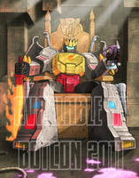 Me Grimlock KING BotCon print by wordmongerer