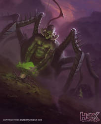 HEX MMO TCG Scars of War - Skittering Cultivator by kolokas
