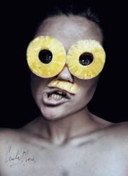 crazy pineapple. by cristina-otero