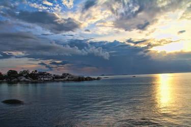 Afternoon at the beach Laskar Pelangi - Belitong by muhadi65