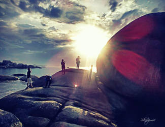Big Stone - Laskar Pelangi Beach  - Belitong by muhadi65