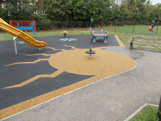 Play facility Markings on Wet Pour surfacing by PlaygroundMarkings