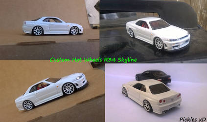 Custom Hot Wheels R34 Nissan Skyline by Pickles_xD by Pickles-xD