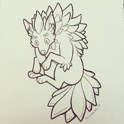 Inktober Day 9: Plant Monster by minibritti