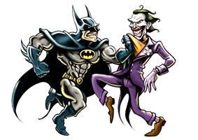 Batman Vs The Joker by Noumier
