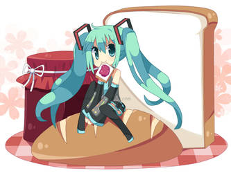 Miku Bread by hanahello
