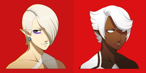 Ghirahim but like, in the Persona Style by GoldieClaws