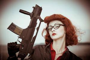 Bitch With a Gun by Santa-Evita