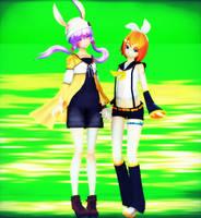  MMD  YuzukiRin by RockfanXYuki