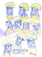 Kuzco's expressions by CrazyLulu
