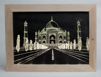 Taj Mahal glass picture by cicciojus