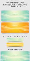Modern Flow Facebook Timeline Template by frozencolor