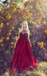 Wine dress by melinahollway