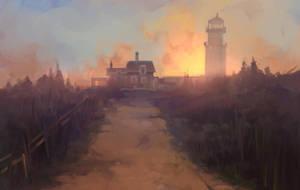 Sunset Lighthouse by sleepy91