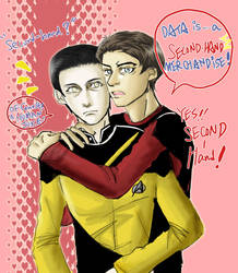 ST TNG Data and Riker by skylord1015